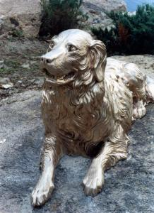 Bronze monument to the dog Tim
