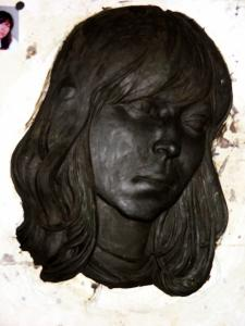 Portrait of a girl in plasticine